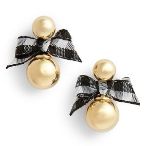 NEW Kate Spade Pretty Pearly Bow Studs Earrings